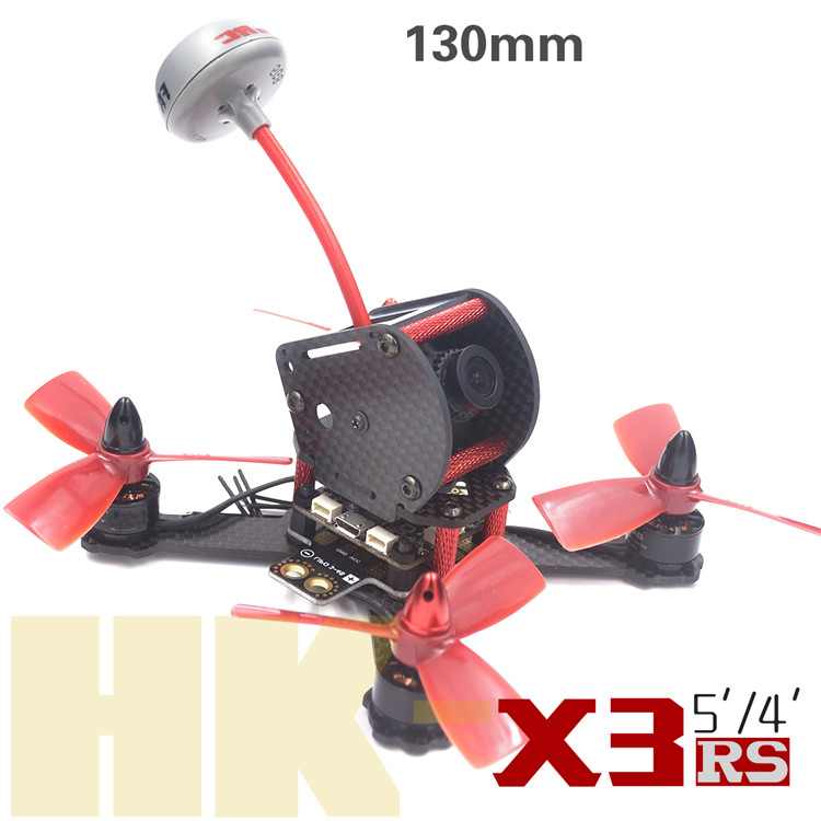 DIY FPV mini racing drone QAV-X3 RS 130mm quadcopter 3K pure carbon fiber frame for 3045 3030 3 inch propeller carbon fiber frame diy rc plane mini drone fpv 220mm quadcopter for qav r 220 f3 6dof flight controller rs2205 2300kv motor