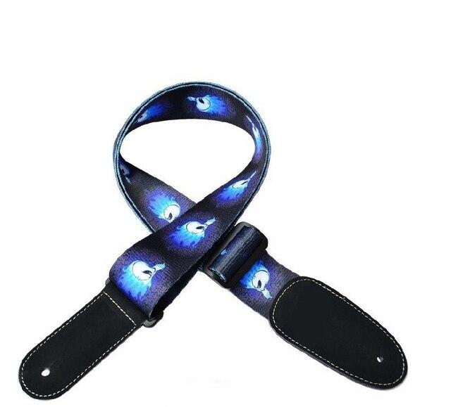 1 Unids espesar y alargar las correas Azul correa de la guitarra acústica guitar