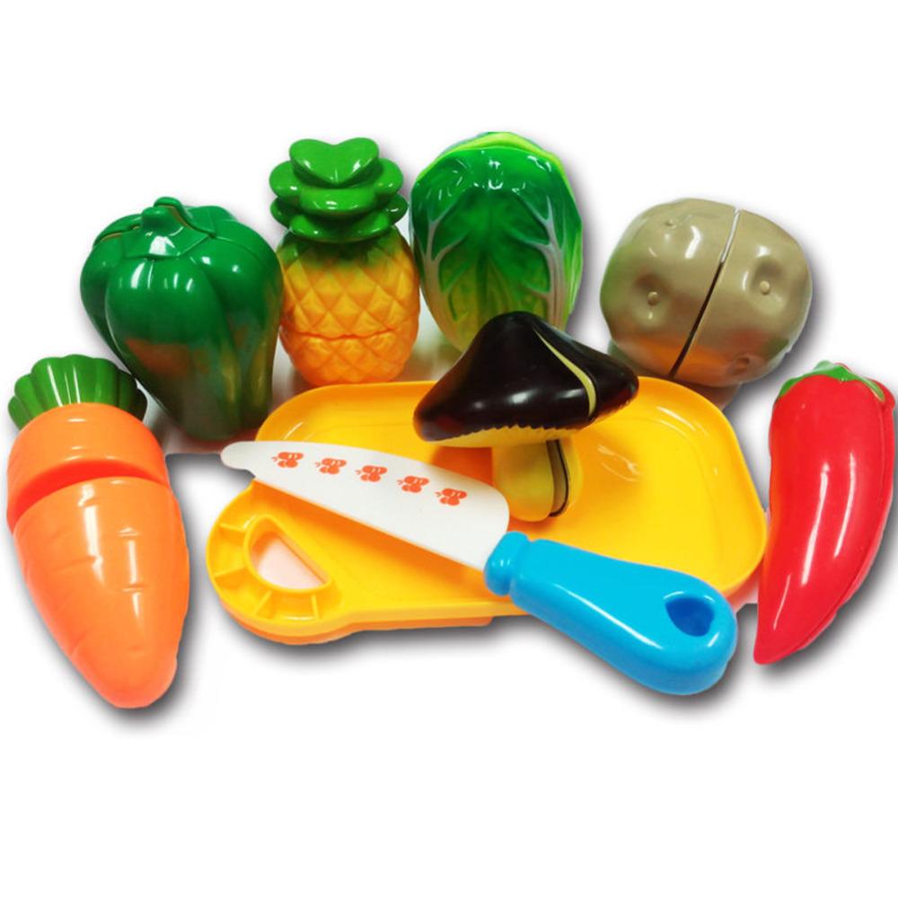 creativo divertido de la cocina de corte de verduras frutas alimentos juguete para nios embroma el