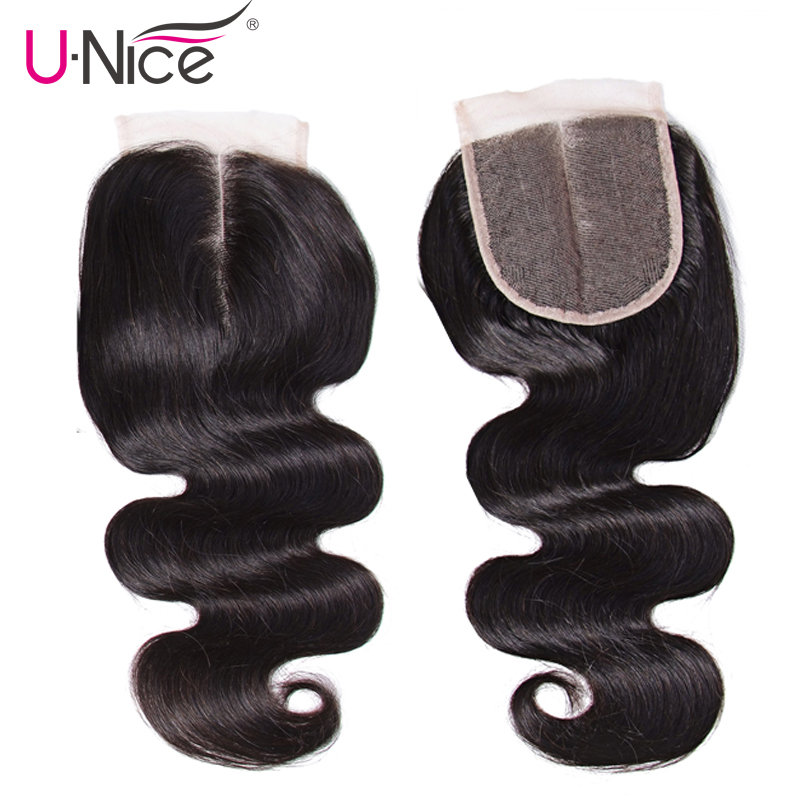 "Image 5 - Unice Hair With Closure 8 30"" Human Hair Bundles With Closure 4PCS Natural Color Peruvian Body Wave Bundles With Closure-in 3/4 Bundles with Closure from Hair Extensions & Wigs"