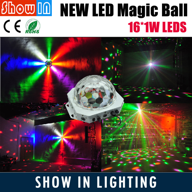 16PCS LED Crystal Magic Ball Laser Animation Lighting DMX512 DJ Disco Party Wedding Pub KTV Stage Effect Projector Free Shipping mini rgb led party disco club dj light crystal magic ball effect stage lighting
