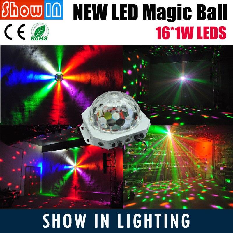 2018 New Design DJ Disco Party Wedding Club Pub KTV Stage Effect Projector DMX 16PCS LED Crystal Magic Ball Free Shipping автоинструменты new design autocom cdp 2014 2 3in1 led ds150