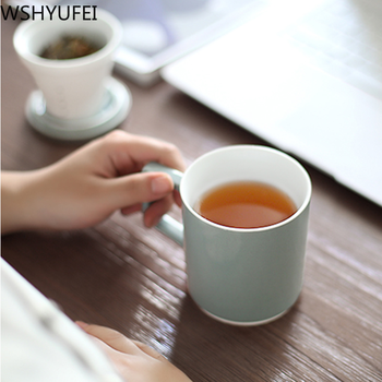 Personality ceramic tea cup with lid filter Office Mark cup Travel portable tea set Household drinking utensils WSHYUFEI 2