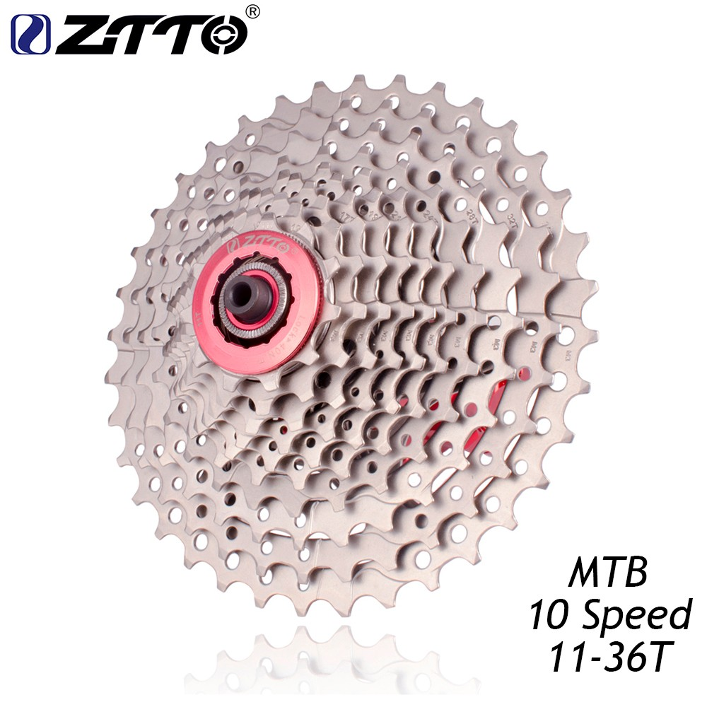 SRAM MOUNTAIN BIKE BICYCLE CASSETTE 11-36T 10 SPEED SILVER LIGHT USE