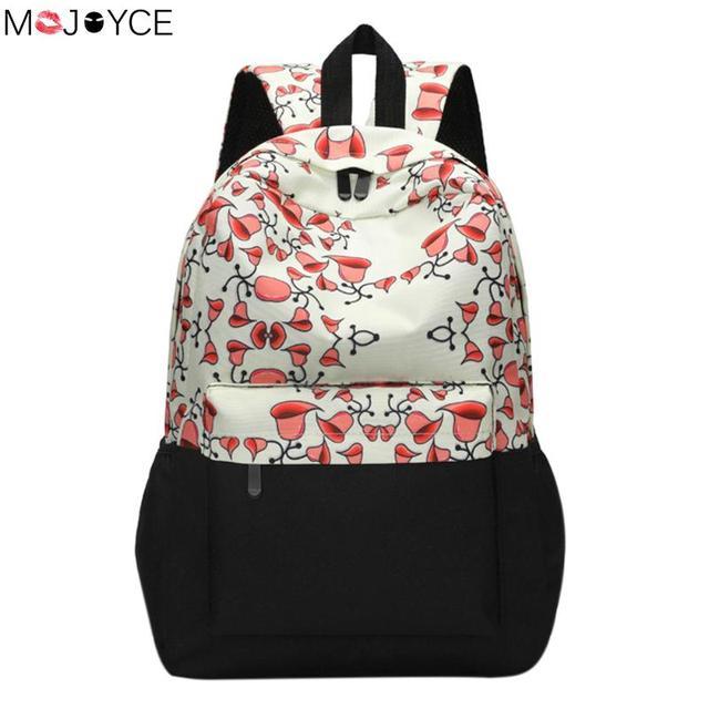 ae91aa993717 Ethnic Print Women Backpacks Floral Printed School Bags for girls Travel Bag  Laptop Backpack canvas backpacks
