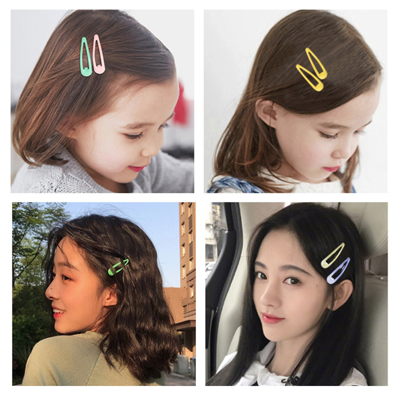 6 10 20 28Pcs 5cm Rabbit Ears Box Gift Snap Hair Clips BB Hairpins Cute Cartoon Barrettes Baby Children Kids Hair Accessories in Hair Accessories from Mother Kids