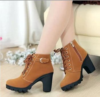 THV Autumn Winter 2018 Woman Boots Women Shoes Ladies Thick Fur Ankle Boots Women High Heel Platform Rubber Shoes Snow Boots 1