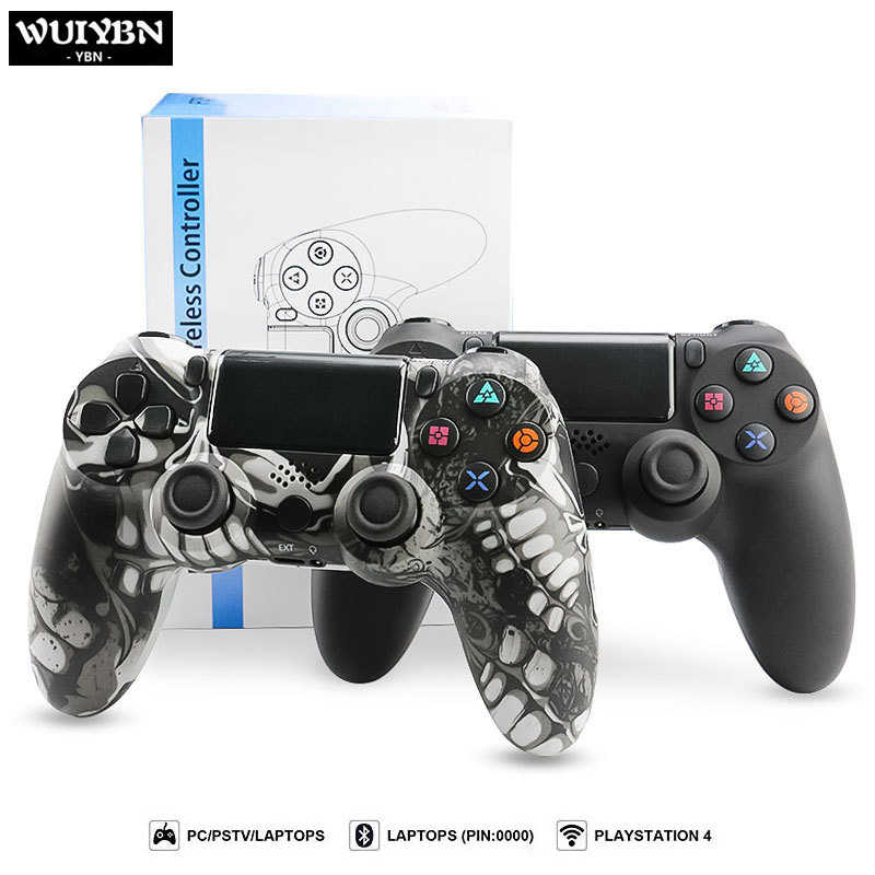 Wuiybn Gamepad PS4 Controller Bluetooth Nirkabel/Kabel USB Joystick untuk Sony PlayStation 4 Game Machine Console PC Uap