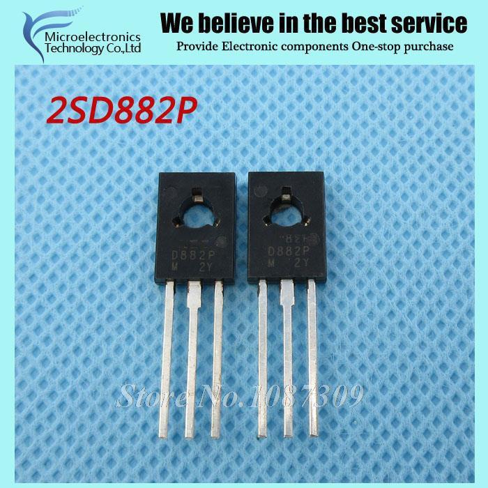 10pcs 2SD882P D882P D882 TO-126  Amplifier For 3A 40V PNP New Original
