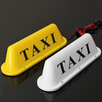 2016 Brand New 12V Taxi Magnetic Base Roof Top Cab LED Sign Light Lamp With Cigarette