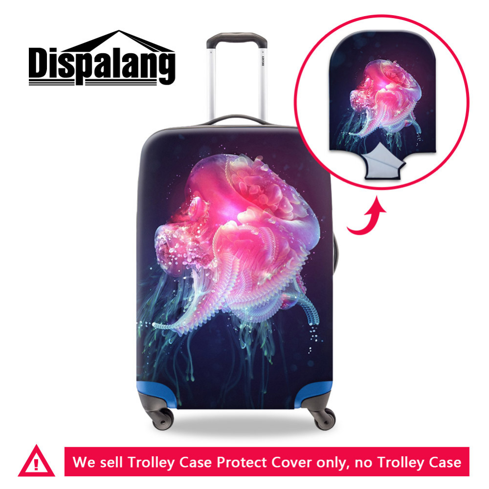 Dispalang Jellyfish Case Cover Women Protective Cover For Suitcase Women Travel Luggage Cover Stretch To 18''-30'' Case Covers