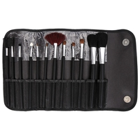 Hypoallergenic 12pcs Make Up Brushes With Steel Handle Professional Makeup Powder Foundation Brushes With Black Storage