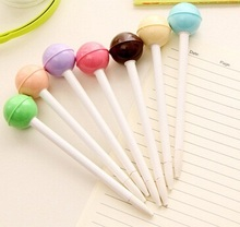 1pcs/lot 150mm Color Acrylic Lollipop Gel Pen Six Stationery Nice Gift Pens Student Using