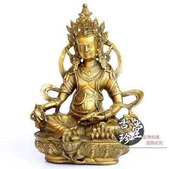"The copper ornaments Zhaocai Buddha Nepal yellow mammon ""Tibetan Buddhist Tantric wealth statue handicraft"