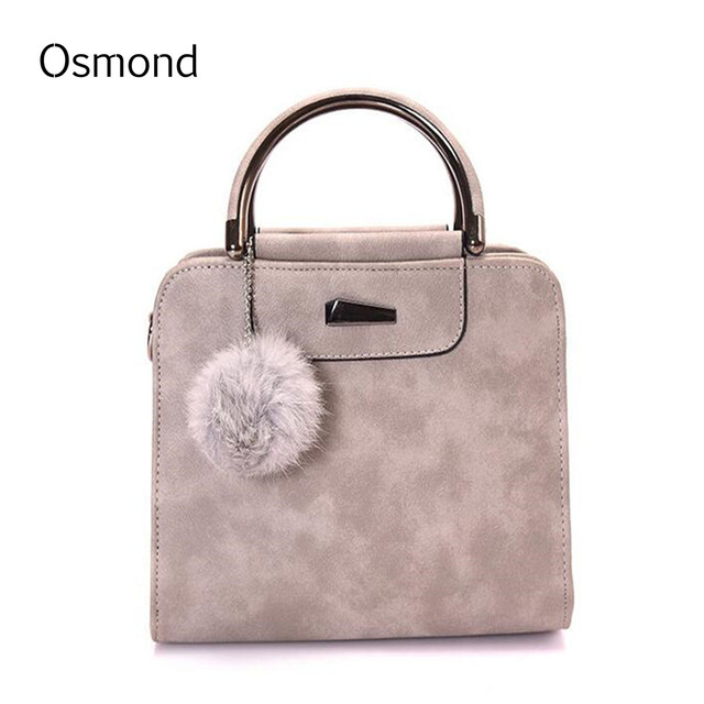 Osmond Matte Leather Handbag Women Crossbody Shoulder Bag Ladies Top-handle Bag 2017 Messenger Bag