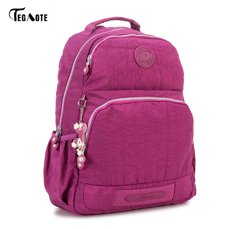 TEGAOTE Famous Brand Backpack Women Backpacks Solid Vintage Girls School Bags Bl