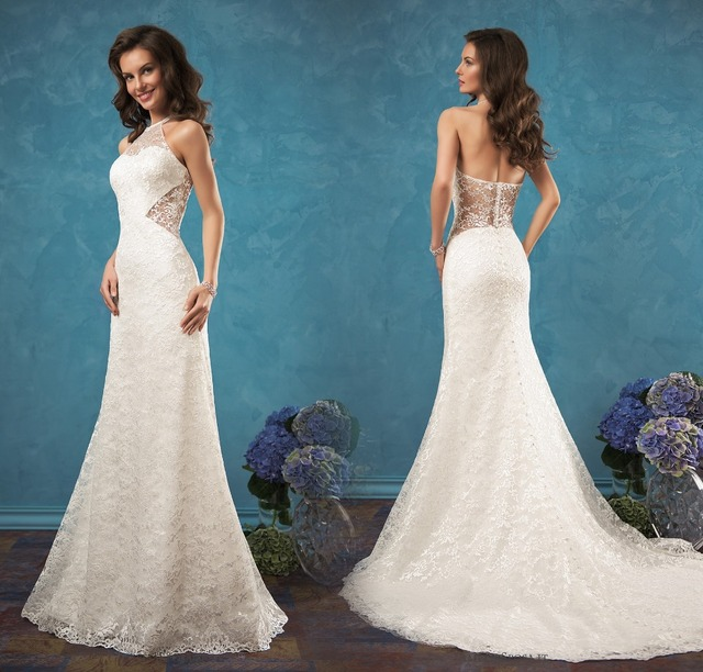 Vestido noiva New Mermaid Wedding Dresses 2017 Halter Neck ...