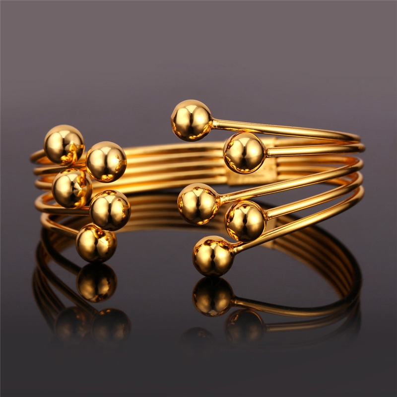 Bracelets & Bangles Unique Design Fashion Jewelry Gold Color ...