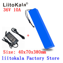 цена на HK LiitoKala 36V 10Ah 42V 18650 Strip lithium ion battery pack with 20A BMS For ebike electric car bicycle motor scooter 600Watt