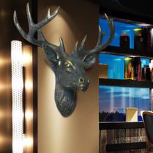 Wall decoration wall mural bar deer clothing store Home Furnishing ornament pendant wall coverings бумажные обои covers wall coverings diamond 18 carbon page 7