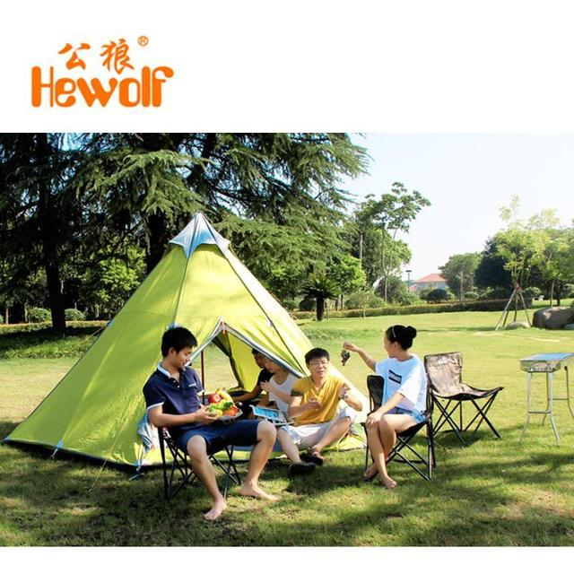 Hewolf yurt tents outside civil air defense 6-8 aluminum alloy safe rain tent camping