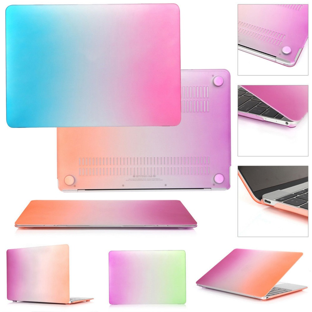 Slim Colorful For Macbook Pro 13 A1278 Pro 15 A1286 Laptop Cover Rainbow Hard PVC Coque For Macbook Pro 13 15 CD ROM Laptop Case