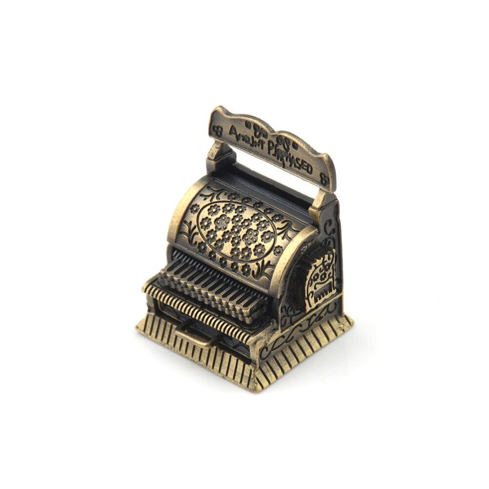 Vintage Metal Cash Register For Doll Home Decoration 1:12 Dollhouse 1/12 Furniture Miniature Accessories