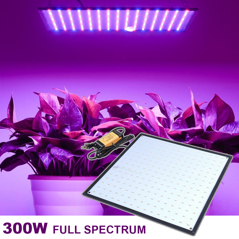 300W Full Spectrum Indoor LED Grow Light Lamp For Plant Seed Flower Growing 225 Led Red Blue Fitolampy Phyto Ultrathin Room Tent