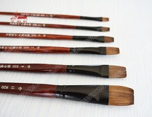 hot deal buy 6pcs/set oil paint brush artist weasel hair water color brush chese paintbrush acrylics paints set drawing art supplies tools