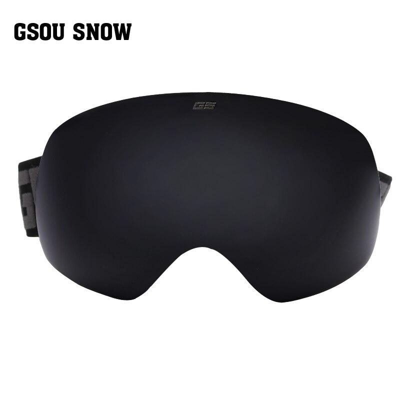 ФОТО Gsou snow brand ski goggles men women ski glasses snowmobile skiing and snowboarding goggles double lens