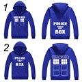 DW Doctor Who Jacket Police Box TARDIS Printed Do. Who Fleece Hoodies Sport Sweatshirt Coat