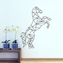 Geometric Horse Wall Stickers Home Decor Animals Outline Decals Vinyl Painting On