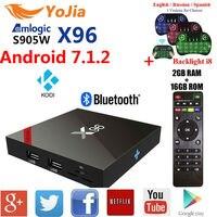 Yojia 2GB16GB Amlogic S905w X96 Android 7 1 TV Box 1GB 8GB 2 4GHz WiFi X96w