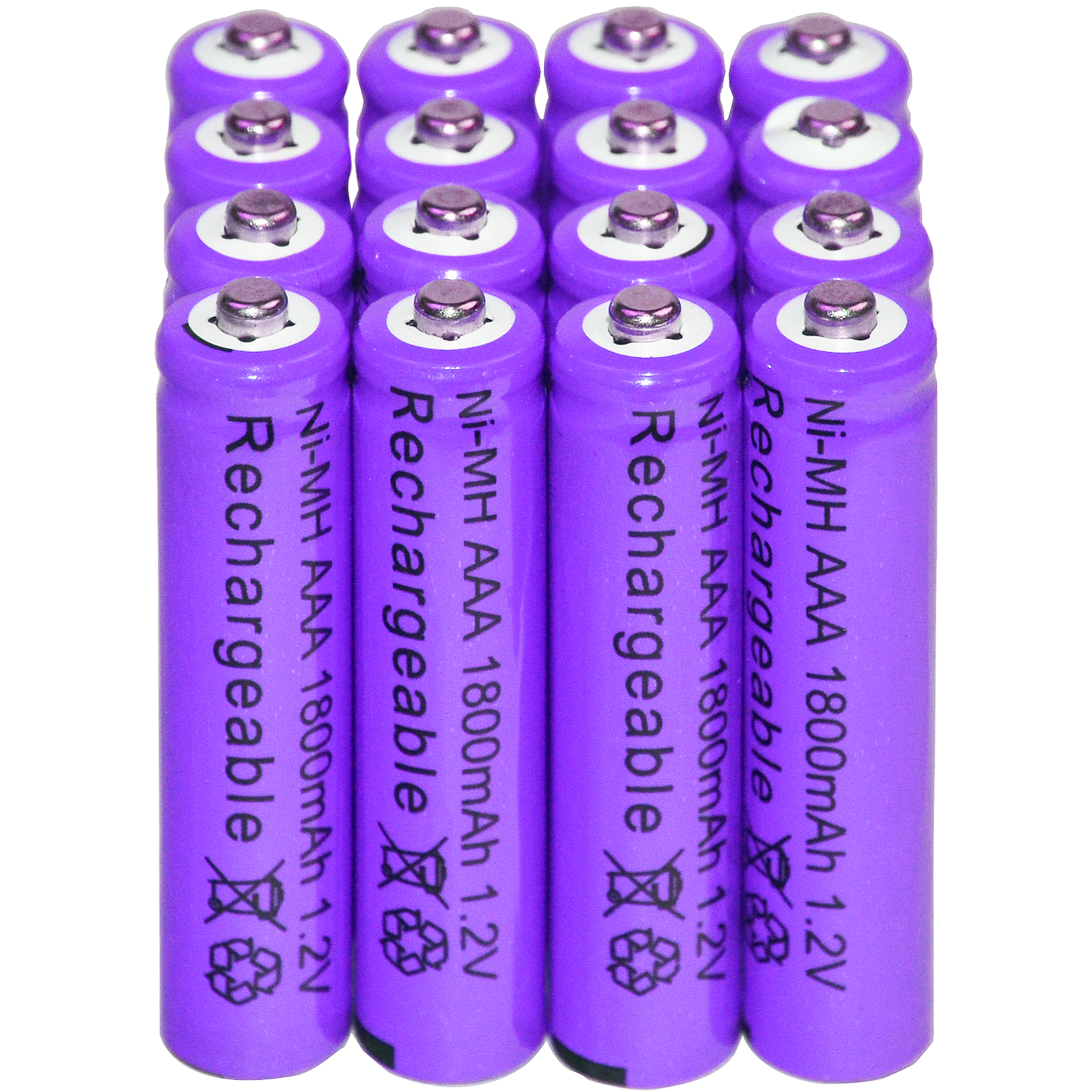 2/12/16/20/28/32pcs AAA 1800mAh 3A 1.2 V Ni-MH Purple Rechargeable Battery Cell for MP3 RC Toys 1 4pcs aaa rechargeable battery pack 4 8v 600mah 3a ni mh nimh batteries ni mh cell for rc toys emergency light cordless phone