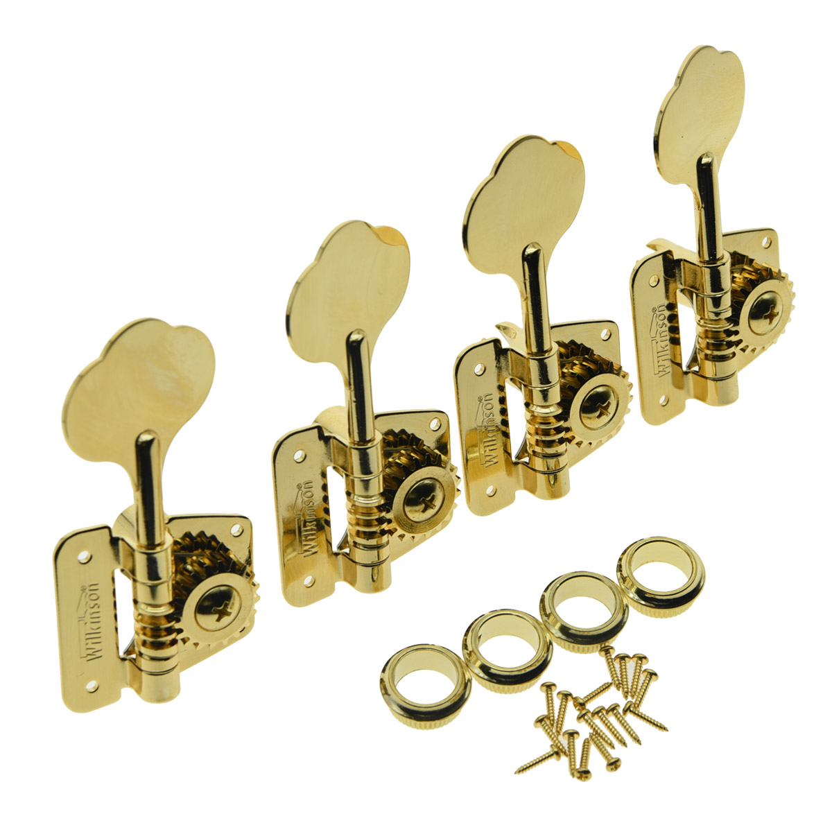 KAISH Wilkinson Gold Bass Tuners Tuning Keys for 70's Vintage J Bass Precision Bass 20cm male to male female to male and female to female jumper wire connector dupont cable for breadboard