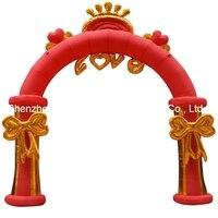 Бесплатная доставка 4 м (13 футов) надувные сердце любовь цветочные арки арка для свадьбы фестиваль рекламы вечерние с воздуходувы
