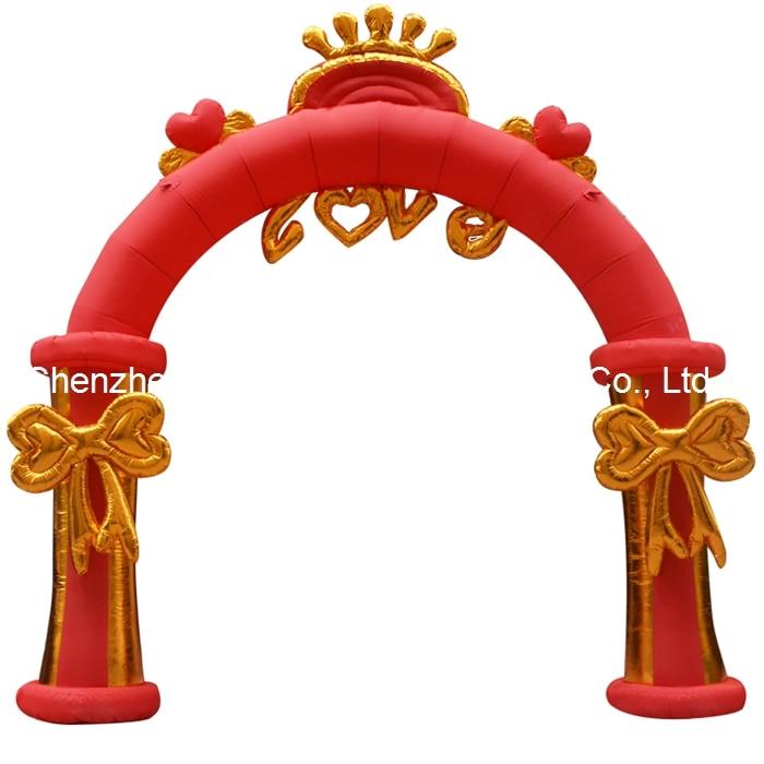 Бесплатная доставка 4 м (13 футов) надувные сердце любовь цветочные арки для свадьбы фестиваль рекламы вечерние с воздуходувки