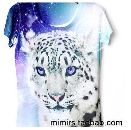 Свирепых животных белый тигр детская одежда ребенка короткий рукав футболки печать мультфильм мальчик и девочка футболки