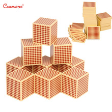 Beech Wood Squares Cubes Math Toys Montessori Education Teaching Numbers Game Materials Puzzle Preschool Aids MA160-3