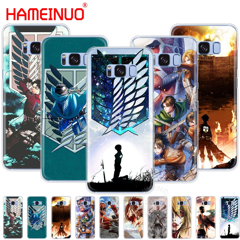 Maiyaca Attack On Titan Novelty Fundas Phone Case Cover For Samsung Galaxy S6 S3 S7 S4 Minicover Phone Bags & Cases