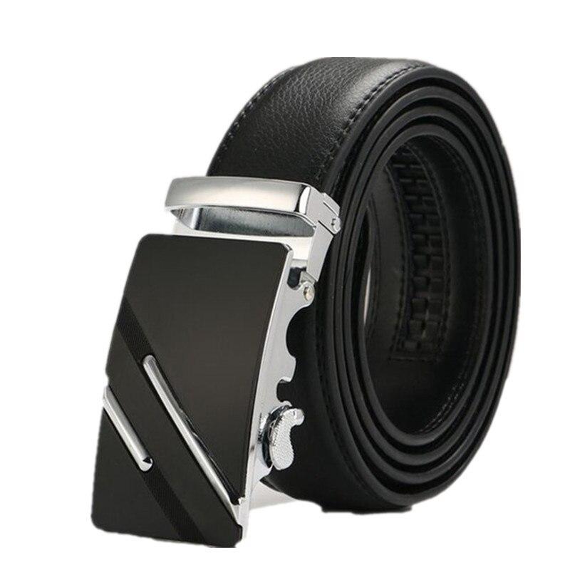 leather strap male automatic buckle belts for men authentic girdle trend men's belts ceinture Fashion designer women jean belt 3