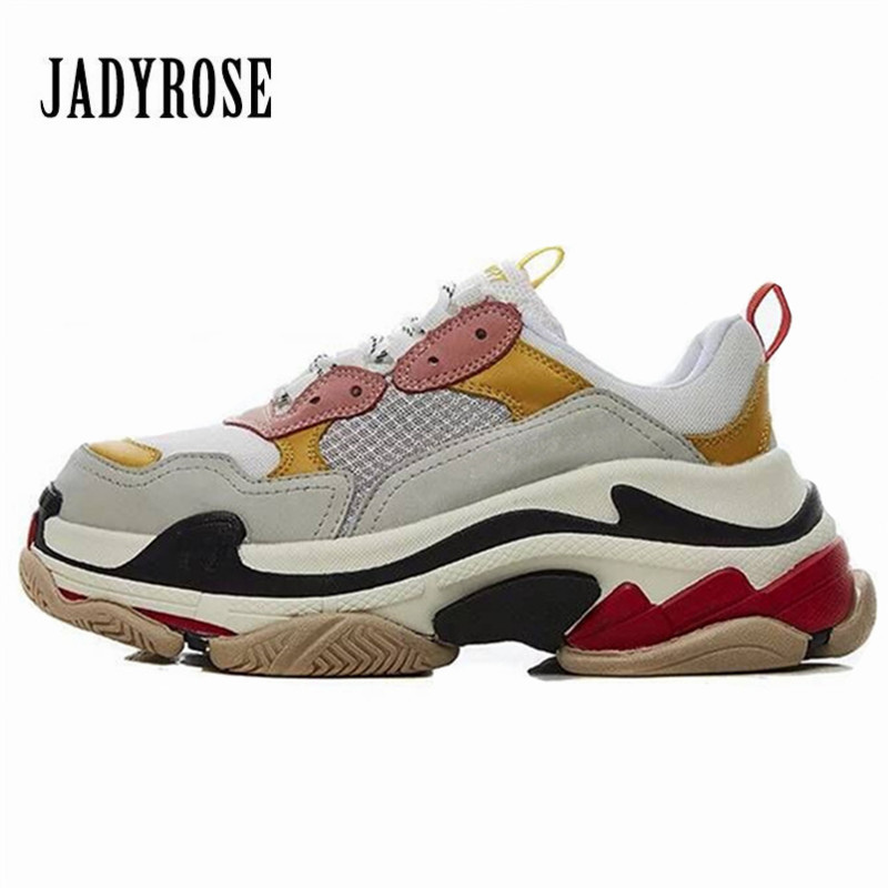 Jady Rose 2018 New Pink Women Sneakers Lace Up Platform Creepers Female Casual Flats Tenis Feminino Espadrilles Chaussures Femme vander 8pcs professional rose pink