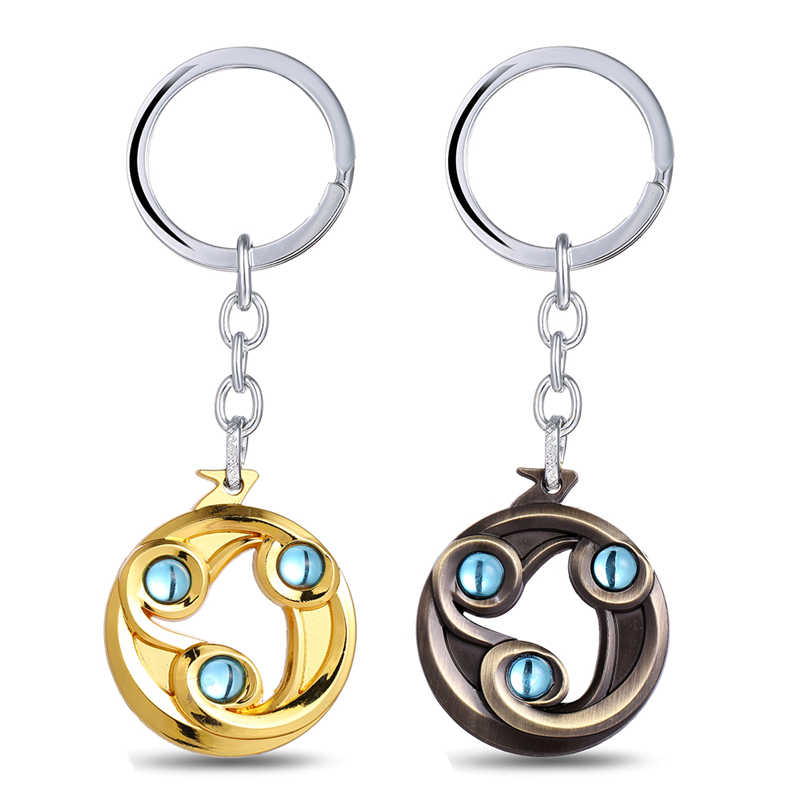 J Store Dota 2 Talisman of Evasion Логотип сплав 2 цвета брелки для ключей для фанатов игры серии брелоки Llaveros оптом и в розницу