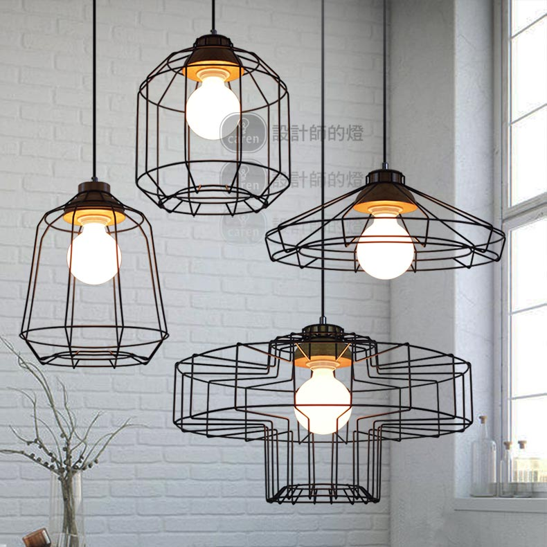 Simple style of modern industry after the Nordic  coffee restaurant Vintage iron wood iron net pandent lamp lavi mohan r the impact of ifrs on industry