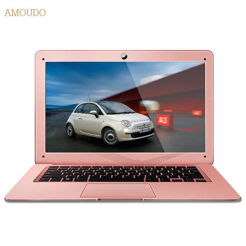 Amoudo 6C 4GB RAM 64GB SSD 750GB HDD 14inch 1920 1080 FHD Windows 7 10 System