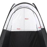 Merk Zwart En Handig Outdoor Enkele Tenten Fotografie Vissen Wc Tent Pop Up Tanning Hoge Kwaliteit Outdoor Tent