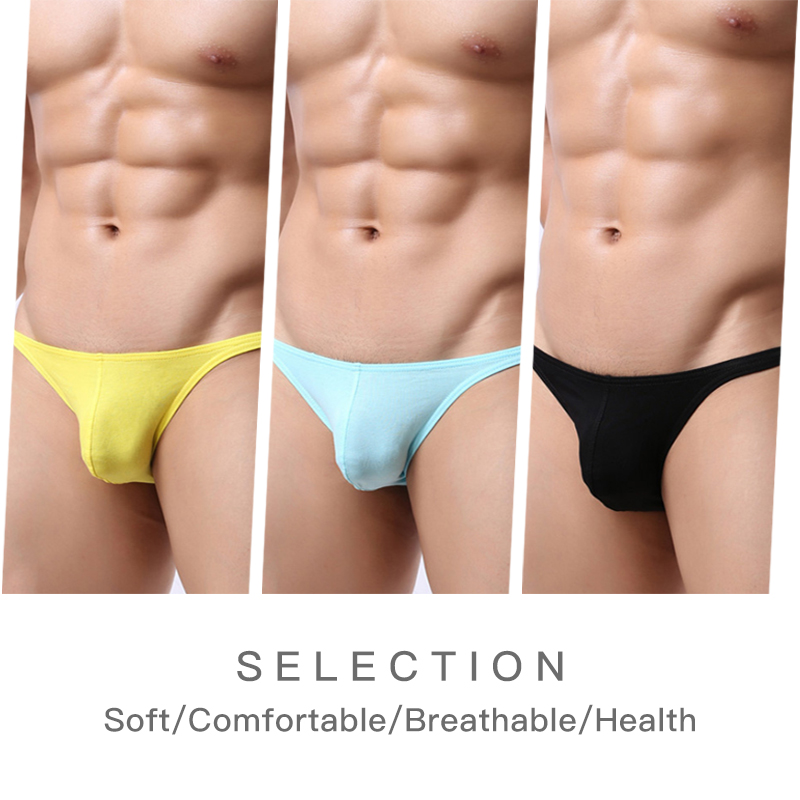 3Pics/Lot Cotton Men Briefs Comfortable Mens Underwear Briefs New arrival Underpants Pan ...