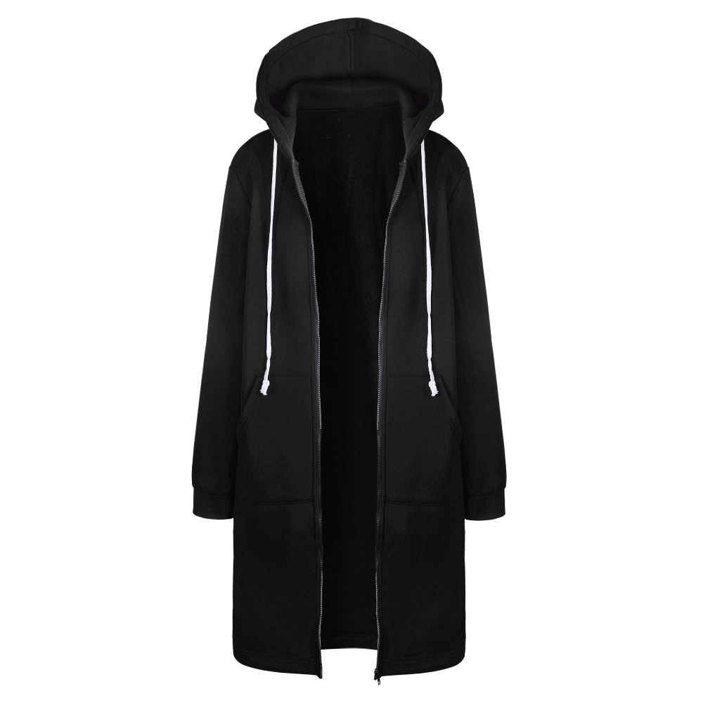 HTB1O5GQX4rI8KJjy0Fpq6z5hVXad Women Warm Winter Fleece Hooded Parka Coat Overcoat Long Jacket Women Outwear Zipper Female Hoodies S-5XL plus size sweatshirt