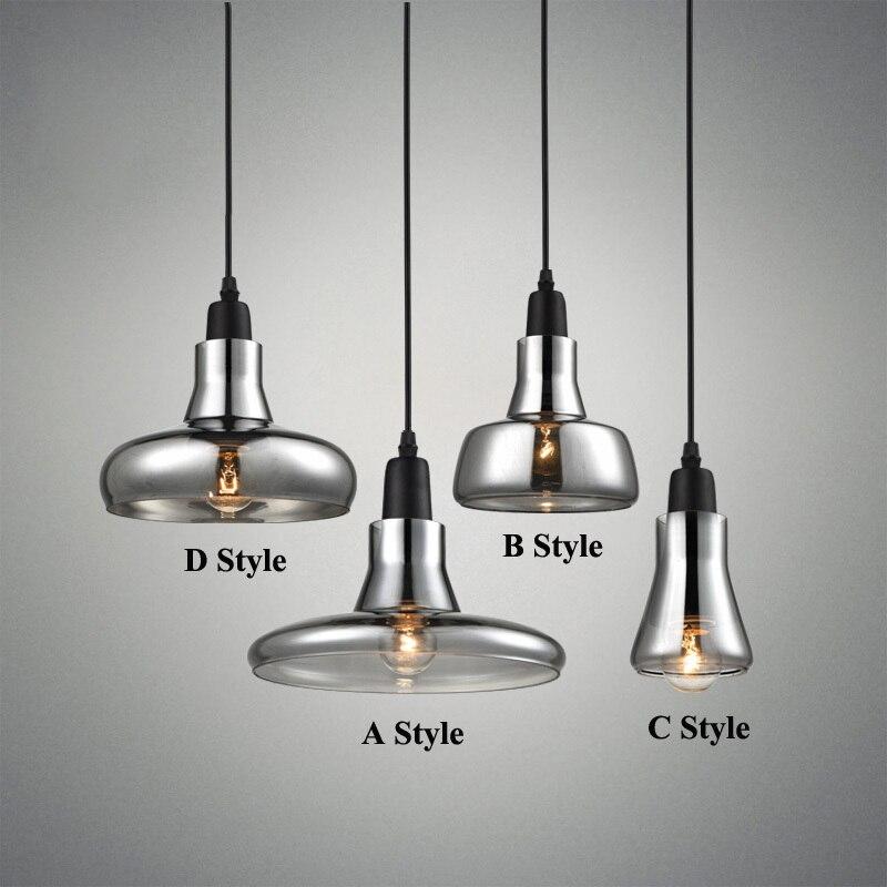 Luzes Pingente de Vidro moderno Fumaça Cinza para o Restaurante Especial Design do Disco Lâmpada Pingente lustres e pendentes sala de jantar Iluminação