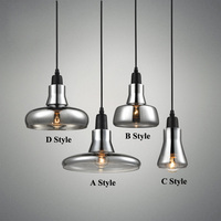 Modren Smoke Gray Glass Pendant Lights For Restaurant Special Disc Design Pendant Lamp Lustres E Pendentes